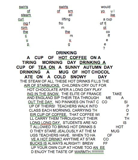 Shape Poetry or Concrete Poetry--It's the same thing. Check out this ...